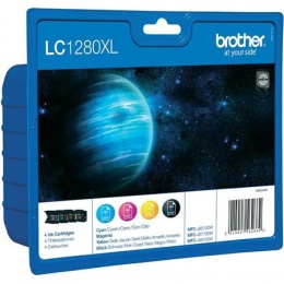 LC1280XLBCMY Tintapatron multipack MFC J6910DW, BROTHER, b+c+m+y, 1*2400 o., 3*1200 o.